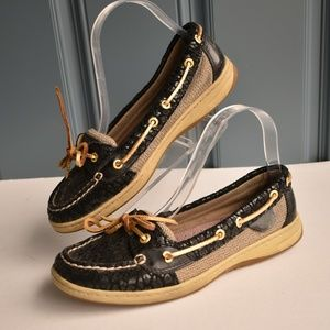 *Sperry Anglefish Cheetah Print Leather Boat Shoes